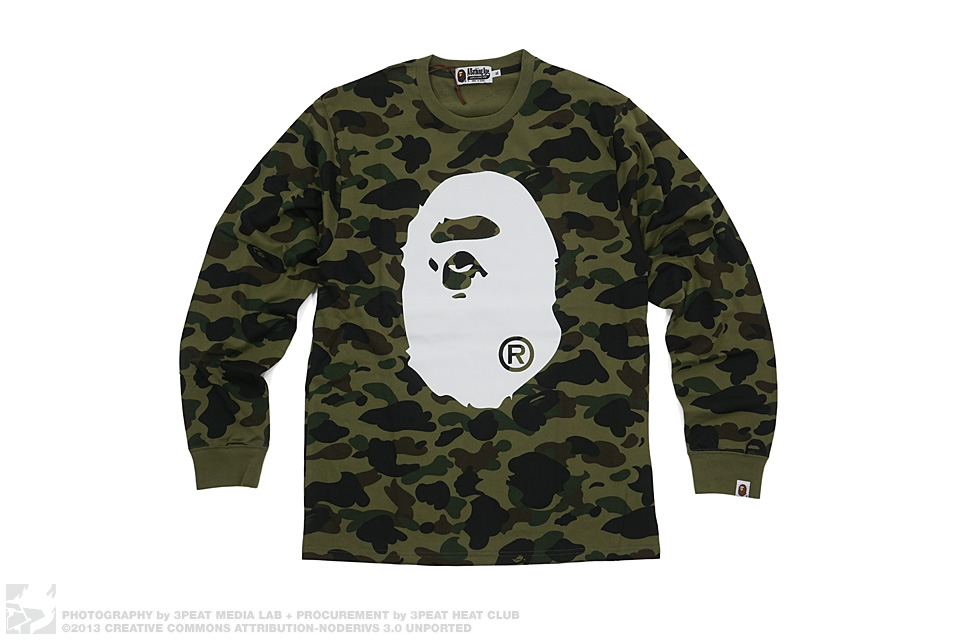 1st Camo Apehead Long Sleeve Tee, main photo