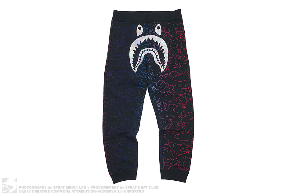 Pencil Camo Hologram Shark Sweatpants, main photo
