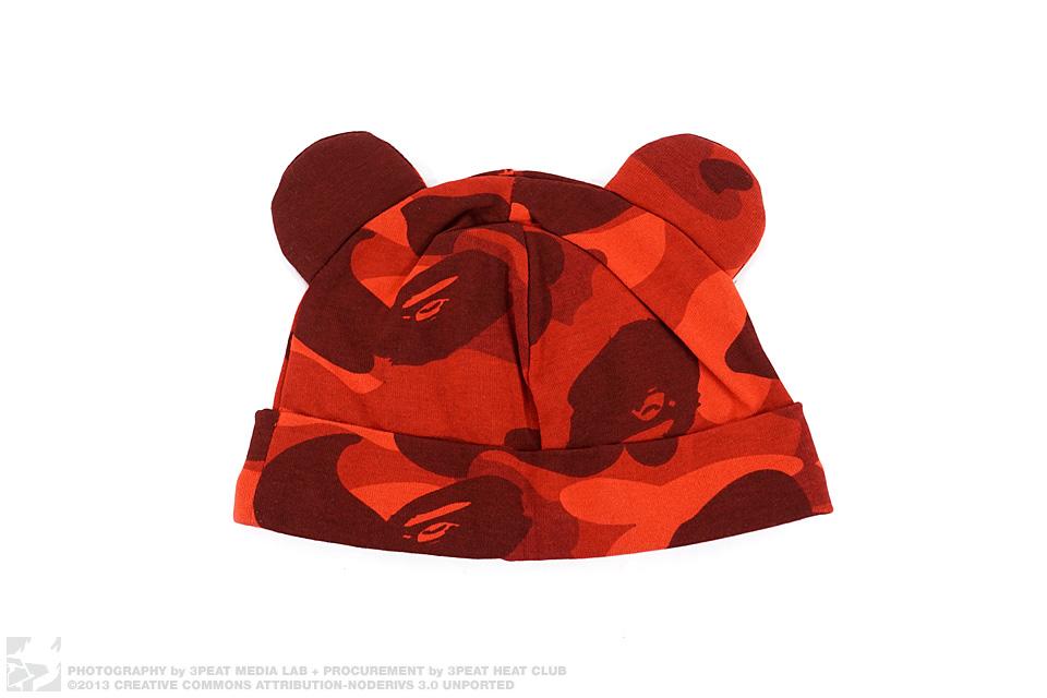 Color Camo Bear Baby Beanie Cap, main photo