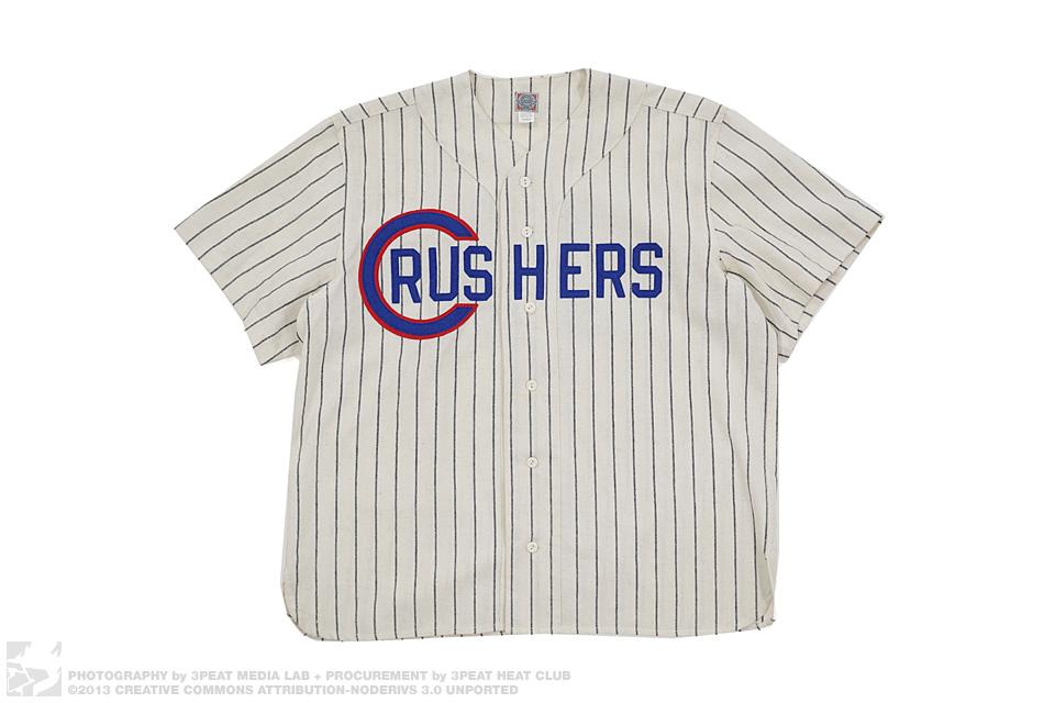 Crushers 13 Pin Stripe Wool Baseball Jersey, main photo