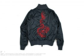 Bonsai Camo Dragon Embroidered Ribbed Tech Jacket by Maharishi