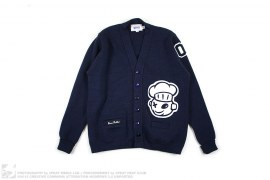 Wappen Knit Cardigan by Burn Rubber