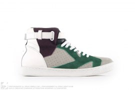 STRAP HIGH-TOP SUEDE SNEAKERS by Kolor