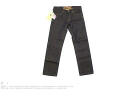 HALF GOLD SPARKLE RAW DENIM by MackDaddy