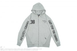 .38 Calibre Sleeve Hood Print Zip Up Hoodie by Crooks & Castles