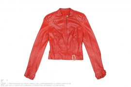 Leather Motorcycle Jacket by Christian Dior