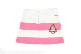 BORDER EMBLEM PATCH MINI SKIRT by A Bathing Ape