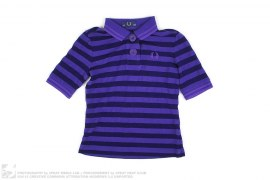 Big Button Border Polo Shirt by Fred Perry