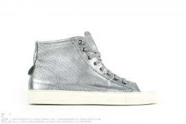 472 Silver SBreaker Perforated High Top Sneakers by Neil Barrett