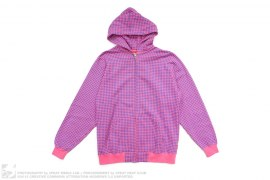 Houndstooth Neon Hoodie by Swagger