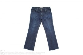 Pocket Logo Distressed Denim by Yves Saint Laurent