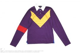 Rugby Lord Crest Long SLeeve Polo Shirt by DSquared
