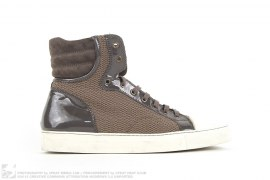 RUBBER TOE MESH HIGH TOP SNEAKERS by Lanvin
