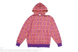 Pattern Print Hoodie by Swagger