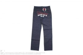 Red Rope Logo Applique Raw Denim by A Bathing Ape