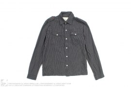 CHECK GRID MILITARY BUTTON-UP SHIRT by Staple