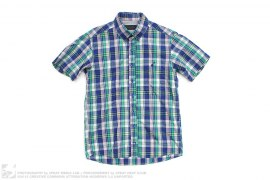 SON OF THE 7TH PLAID SHORT SLEEVE BUTTON-UP SHIRT by Maiden Noir