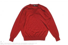 Merino Wool Cashmere Blend V-Neck Sweater by Neiman Marcus