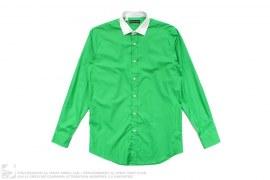Black Label White Collar Button-Up Shirt by Ralph Lauren