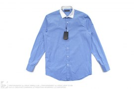 Black Label White Collar Button-Up Shirt by Ralph Lauren