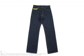 Yellow Double Pocket Raw Denim by Maharishi