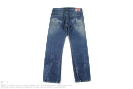 EU Edition Samurai Vintage Wash Denim by Evisu