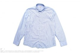Fine Striped Button-Up Dress Shirt by Burberry
