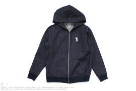 Speckle Galaxy Denim Hooded Jacket by BBC/Ice Cream