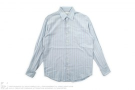 Striped Button-up Shirt by Perry Ellis
