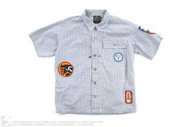 Applique Short-Sleeve Button-Up Work Shirt by BBC/Ice Cream