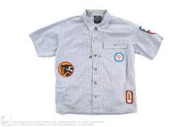 Applique Short-Sleeve Button-Up Work Shirt by BBC/Ice Cream