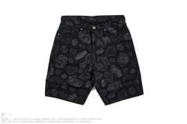3M Print 3D Diamond & Dollar Shorts by BBC/Ice Cream