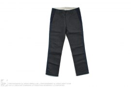 Cut & Sew Galaxy Denim Trim Chino Pants by BBC/Ice Cream
