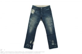 Made & Crafted L01 Straight Distressed Vintage Wash Denim by Levi's