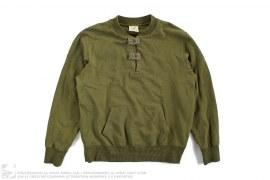 Cut & Sew Logo Print Button Collar Sweatshirt by BBC/Ice Cream