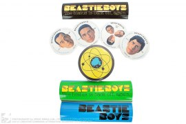 Beastie Boys Solid Gold Hits JP Promo Intergalactic Compressed Tee & Stickers by A Bathing Ape