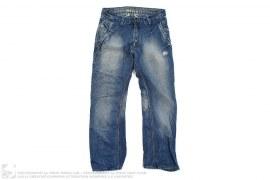 Distressed Vintage Wash Loose Fit Denim by BlueBlood