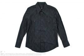 Jacquard Snake Pattern Button-Up Shirt by Calvin Klein