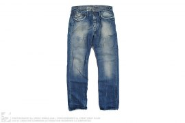 Distressed Vintage Wash Straight Cut Denim by BlueBlood