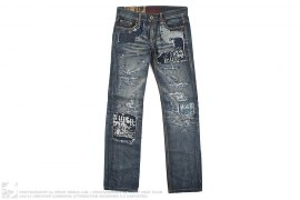 Hong Kong Distressed Crush Vintage Denim by Tough Jeansmith