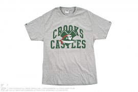 Pirate Logo Graphic Tee by Crooks & Castles
