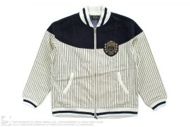 Striped Cotton Canvas Varsity Jacket by BBC/Ice Cream