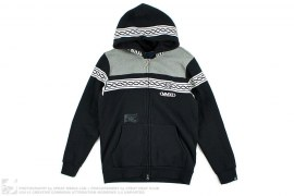 Chain Stripe Border Zip-Up Hoodie by Stage