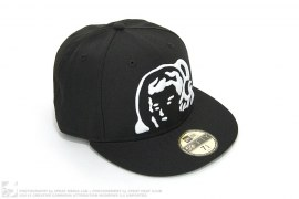 Raised Giant Moon Man Fitted Baseball Cap by BBC/Ice Cream x New Era