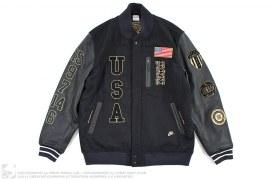 Dream Team 20th Anniversary Leather Varsity Letterman Jacket by Nike