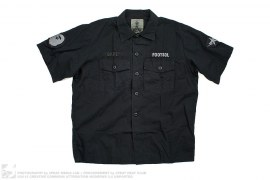 Applique Wing Logo Short Sleeve Button-Up Shirt by A Bathing Ape