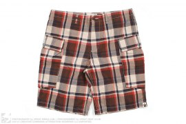 Plaid Nylon Cargo Shorts by A Bathing Ape