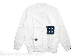 AB Wappen Sweat Cardigan Button-Up by A Bathing Ape