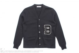 B Wappen Knit Cardigan by A Bathing Ape