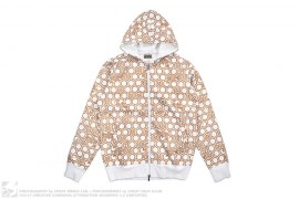 Kimono Print A8 Hooded Sweat Hoodie by Maharishi